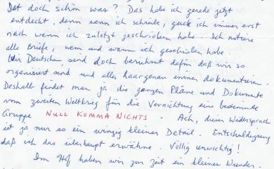 Brief an Ines Auszug